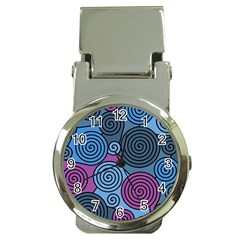 Blue Hypnoses Money Clip Watches by Valentinaart