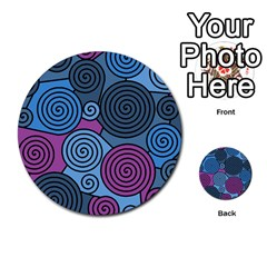 Blue Hypnoses Multi Purpose Cards (round)  by Valentinaart