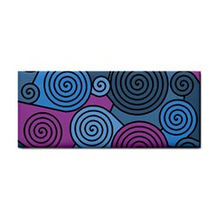 Blue Hypnoses Hand Towel by Valentinaart