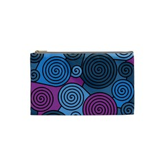 Blue Hypnoses Cosmetic Bag (small)  by Valentinaart