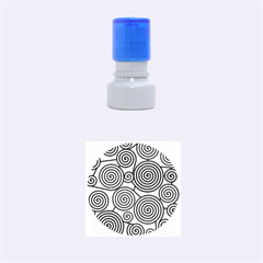 Blue Hypnoses Rubber Round Stamps (small)