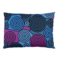 Blue Hypnoses Pillow Case (two Sides) by Valentinaart