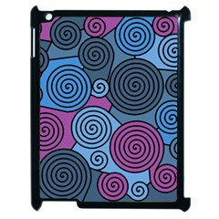 Blue Hypnoses Apple Ipad 2 Case (black) by Valentinaart