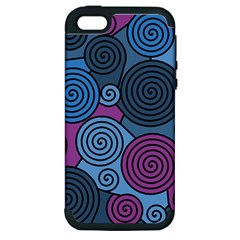 Blue Hypnoses Apple Iphone 5 Hardshell Case (pc+silicone) by Valentinaart