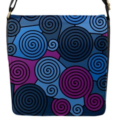 Blue Hypnoses Flap Messenger Bag (s) by Valentinaart