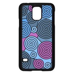 Blue Hypnoses Samsung Galaxy S5 Case (black) by Valentinaart