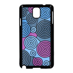 Blue Hypnoses Samsung Galaxy Note 3 Neo Hardshell Case (black) by Valentinaart