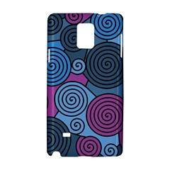 Blue Hypnoses Samsung Galaxy Note 4 Hardshell Case by Valentinaart