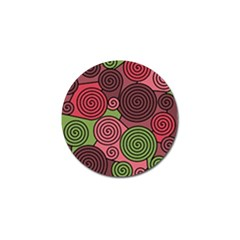 Red And Green Hypnoses Golf Ball Marker by Valentinaart