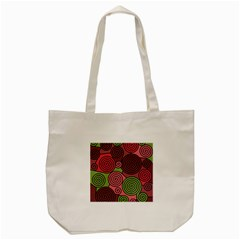 Red And Green Hypnoses Tote Bag (cream) by Valentinaart
