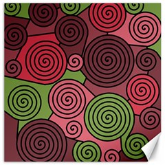 Red And Green Hypnoses Canvas 16  X 16   by Valentinaart
