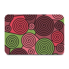 Red And Green Hypnoses Plate Mats by Valentinaart