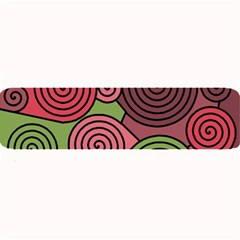 Red And Green Hypnoses Large Bar Mats by Valentinaart