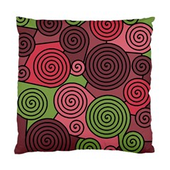 Red And Green Hypnoses Standard Cushion Case (one Side) by Valentinaart