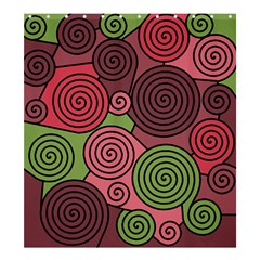 Red And Green Hypnoses Shower Curtain 66  X 72  (large)  by Valentinaart
