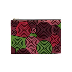 Red And Green Hypnoses Cosmetic Bag (medium)  by Valentinaart