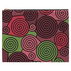 Red And Green Hypnoses Cosmetic Bag (xxxl)  by Valentinaart