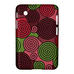Red And Green Hypnoses Samsung Galaxy Tab 2 (7 ) P3100 Hardshell Case  by Valentinaart