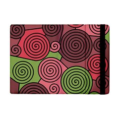 Red And Green Hypnoses Ipad Mini 2 Flip Cases by Valentinaart