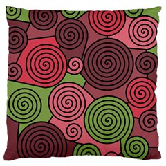 Red And Green Hypnoses Standard Flano Cushion Case (two Sides) by Valentinaart