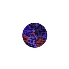 Blue And Red Hypnoses  1  Mini Buttons by Valentinaart