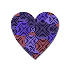 Blue And Red Hypnoses  Heart Magnet by Valentinaart