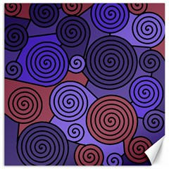 Blue And Red Hypnoses  Canvas 20  X 20   by Valentinaart