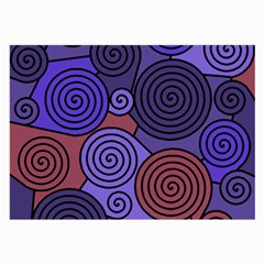 Blue And Red Hypnoses  Large Glasses Cloth (2 Side) by Valentinaart