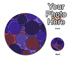 Blue And Red Hypnoses  Multi Purpose Cards (round)  by Valentinaart