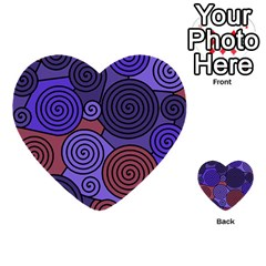 Blue And Red Hypnoses  Multi Purpose Cards (heart)  by Valentinaart