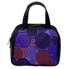 Blue And Red Hypnoses  Classic Handbags (one Side) by Valentinaart