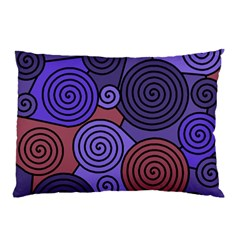 Blue And Red Hypnoses  Pillow Case by Valentinaart