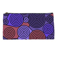Blue And Red Hypnoses  Pencil Cases by Valentinaart