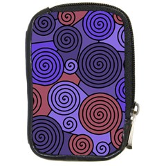 Blue And Red Hypnoses  Compact Camera Cases