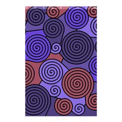 Blue And Red Hypnoses  Shower Curtain 48  X 72  (small)  by Valentinaart