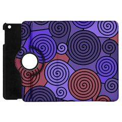 Blue And Red Hypnoses  Apple Ipad Mini Flip 360 Case by Valentinaart