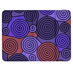 Blue And Red Hypnoses  Samsung Galaxy Tab 7  P1000 Flip Case by Valentinaart