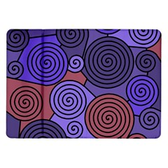 Blue And Red Hypnoses  Samsung Galaxy Tab 10 1  P7500 Flip Case by Valentinaart