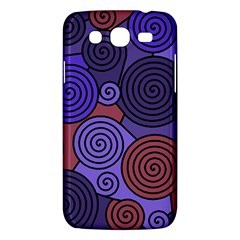 Blue And Red Hypnoses  Samsung Galaxy Mega 5 8 I9152 Hardshell Case  by Valentinaart
