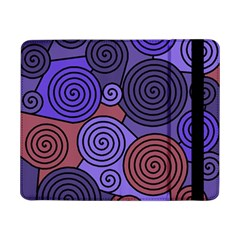 Blue And Red Hypnoses  Samsung Galaxy Tab Pro 8 4  Flip Case by Valentinaart