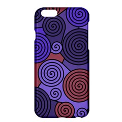 Blue And Red Hypnoses  Apple Iphone 6 Plus/6s Plus Hardshell Case by Valentinaart