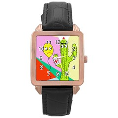 Health Insurance  Rose Gold Leather Watch  by Valentinaart