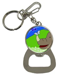 Butterfly And Rhino Bottle Opener Key Chains by Valentinaart