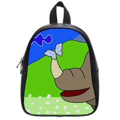 Butterfly And Rhino School Bags (small)