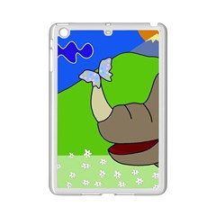 Butterfly And Rhino Ipad Mini 2 Enamel Coated Cases by Valentinaart