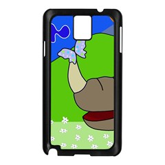 Butterfly And Rhino Samsung Galaxy Note 3 N9005 Case (black) by Valentinaart