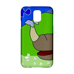 Butterfly And Rhino Samsung Galaxy S5 Hardshell Case  by Valentinaart