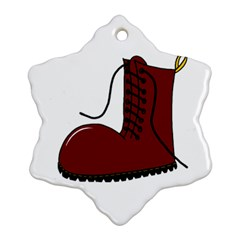 Boot Snowflake Ornament (2 Side) by Valentinaart