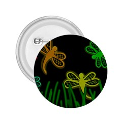 Neon Dragonflies 2 25  Buttons