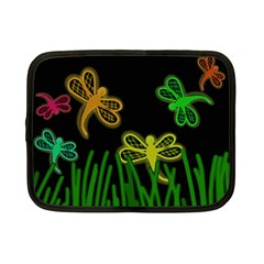Neon Dragonflies Netbook Case (small)  by Valentinaart